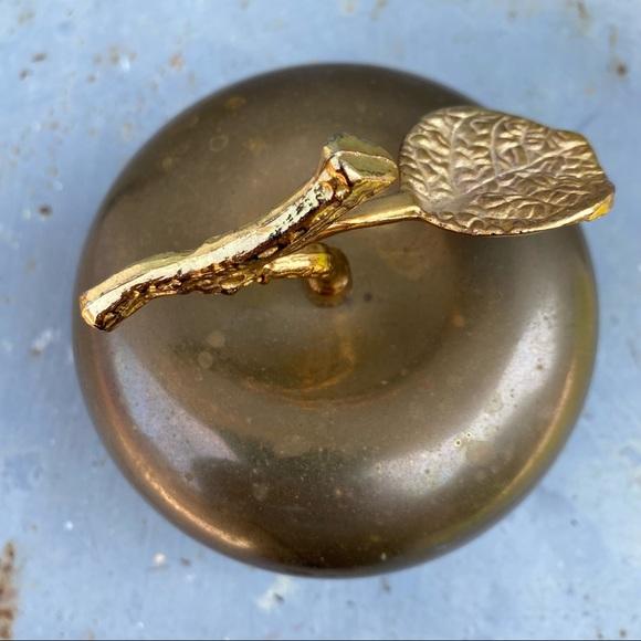 Vintage Brass Apple Storage Box